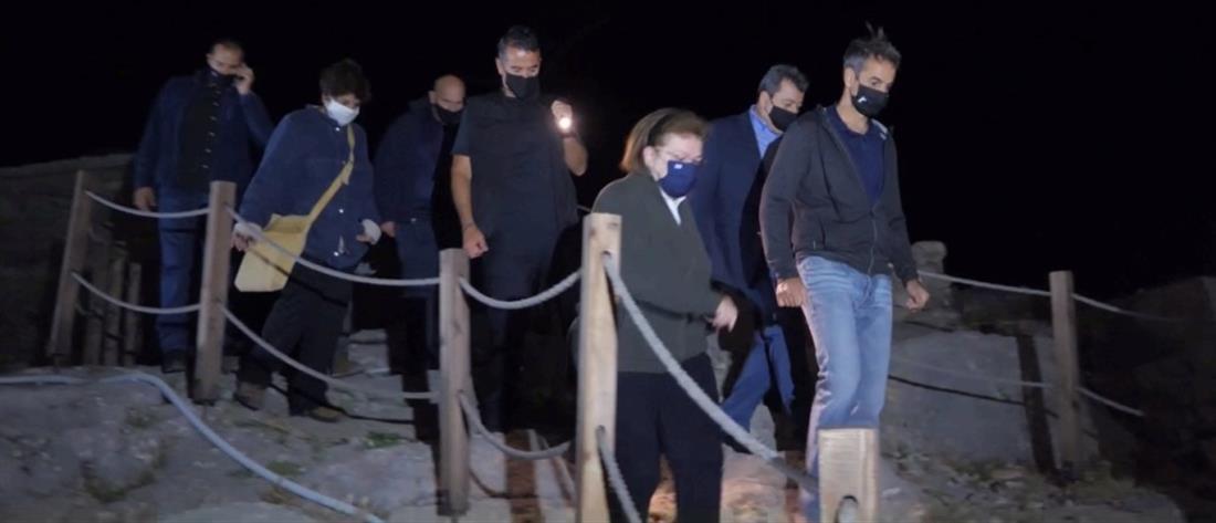 Σαμοθράκη: ο Κυριάκος Μητσοτάκης στο Κάστρο της Χώρας (βίντεο)