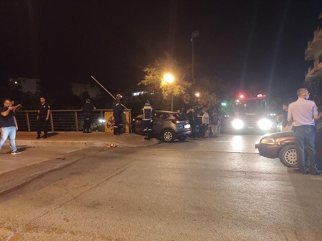 Λάρισα - τροχαίο ατύχημα - γέφυρα του Αλκαζάρ