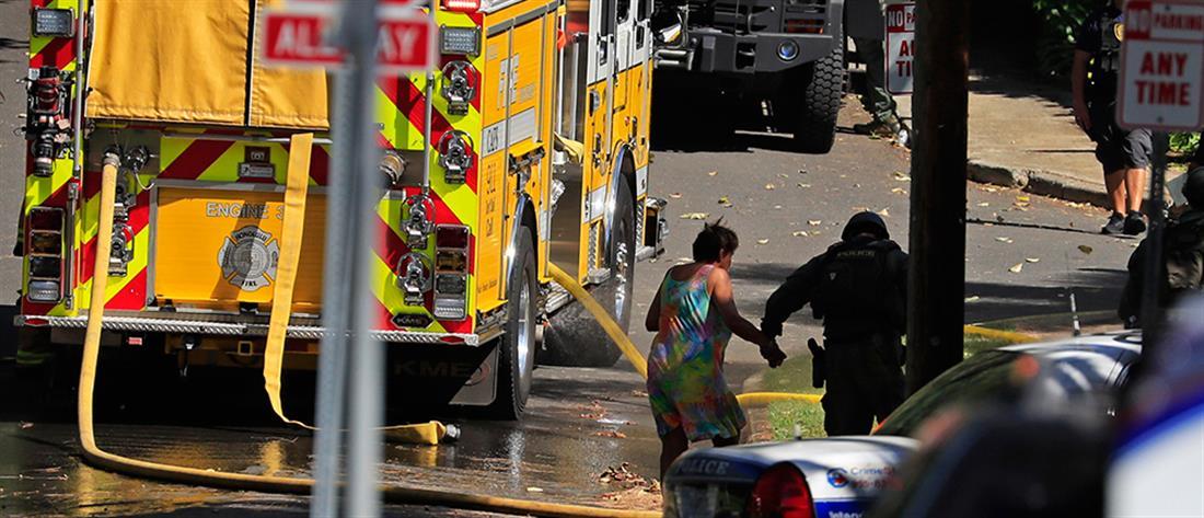 Νεκροί αστυνομικοί και φωτιές σε βίλες στη Χαβάη (εικόνες)