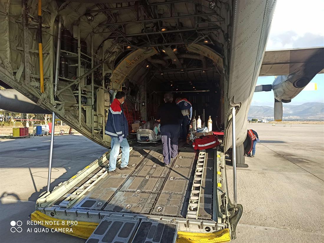Αεροδιακομιδές διασωληνωμένων - κορονοϊός - ΕΚΑΒ