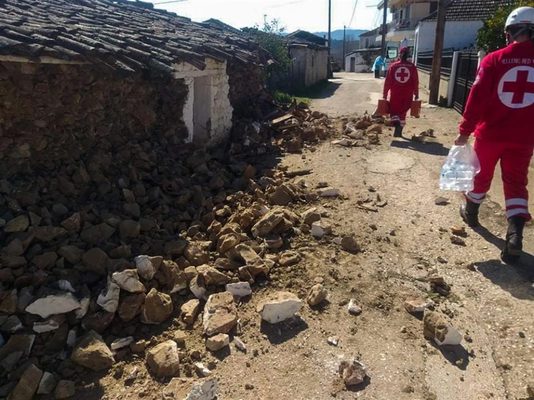 Ελληνικός Ερυθρός Σταυρός - Σεισμός - Ελασσόνα - Μεσοχώρι - Δαμάσι