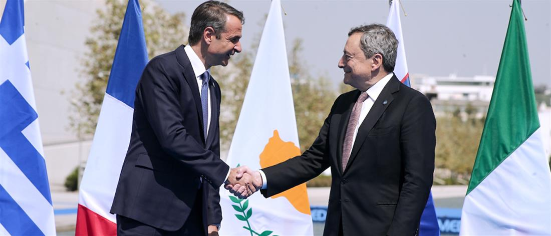 EUMED 9: Μητσοτάκης και Ντράγκι για τη Μεσόγειο και την κλιματική αλλαγή