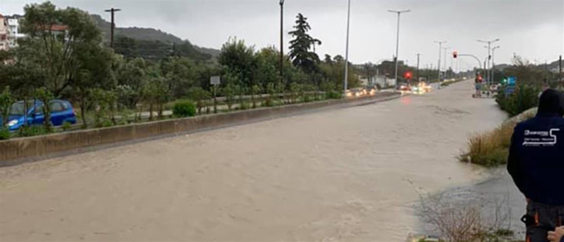 """""""Διδώ"""": Η Ρόδος """"βούλιαξε"""" από τις πλημμύρες (εικόνες)"""