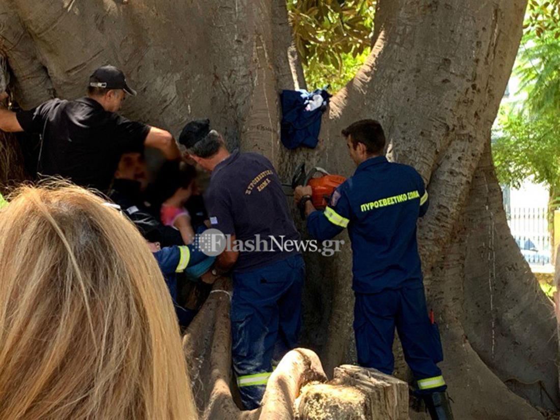 Χανιά - ατύχημα - παιδί - δέντρο