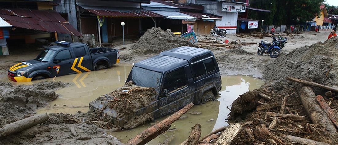 Φονικές οι καταστροφικές πλημμύρες στην Ινδονησία (εικόνες)