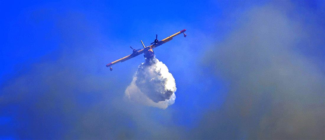 Εύβοια: στη μάχη με τις φλόγες καναντέρ από Ιταλία και Ισπανία