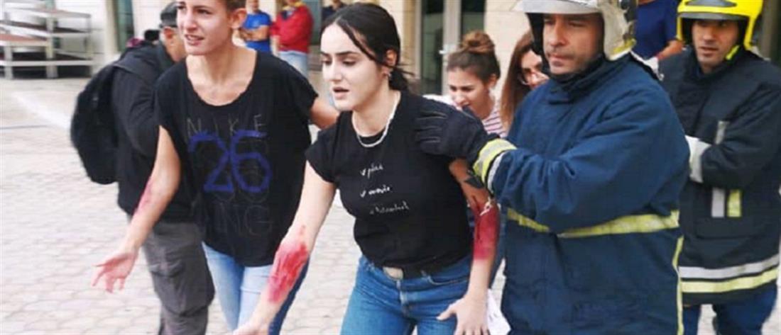 Άσκηση: Πυροβολισμοί με νεκρούς στην Μονή Λαζαριστών (εικόνες)