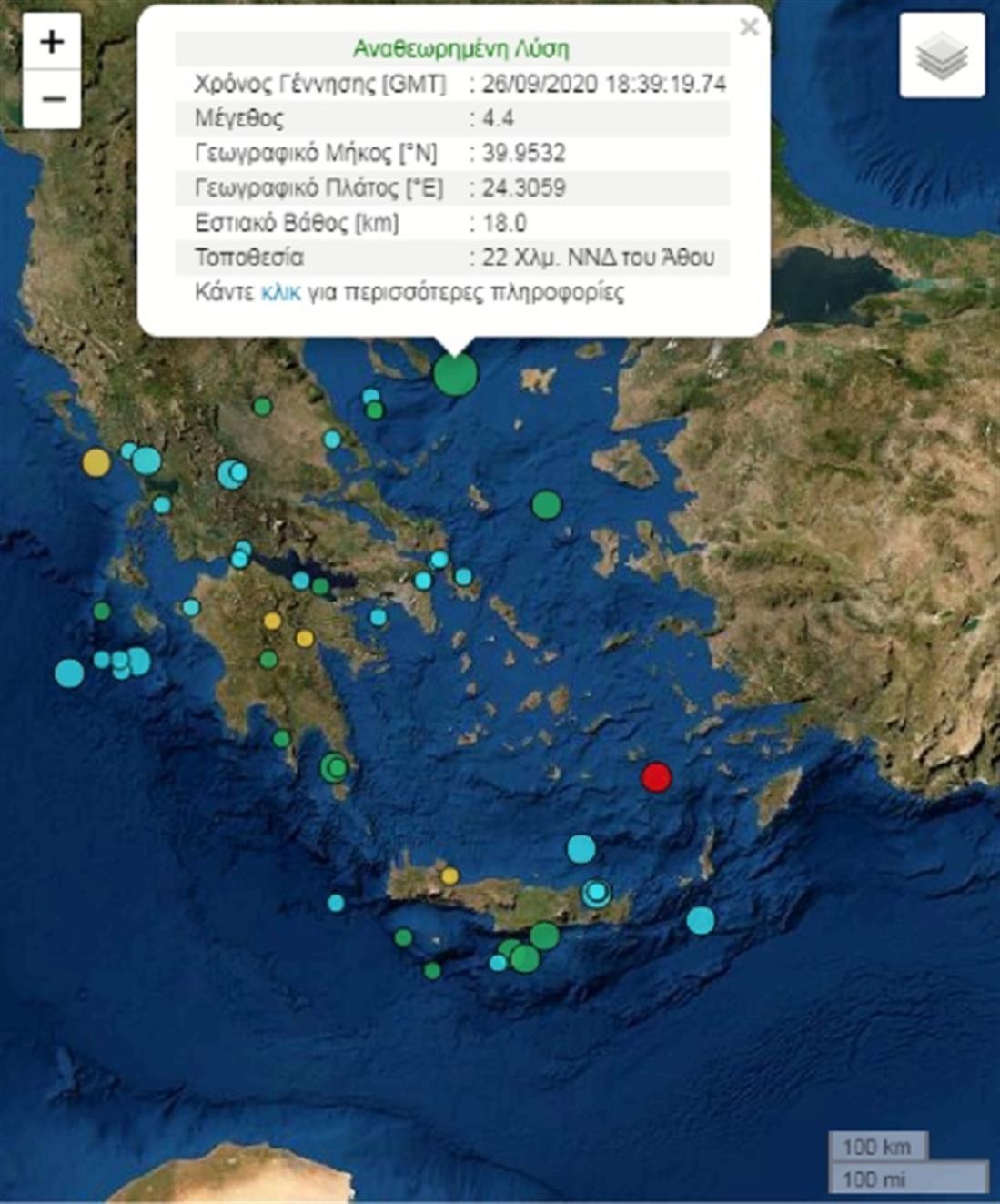 Σεισμός - Χαλκιδική