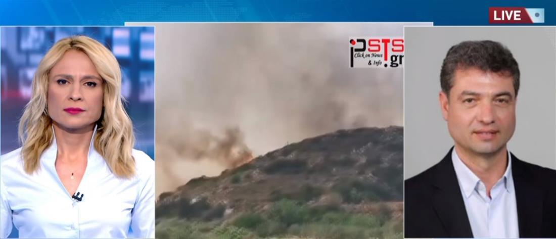 Φωτιά στην Πάρο: Οι φλόγες έφτασαν κοντά σε σπίτια