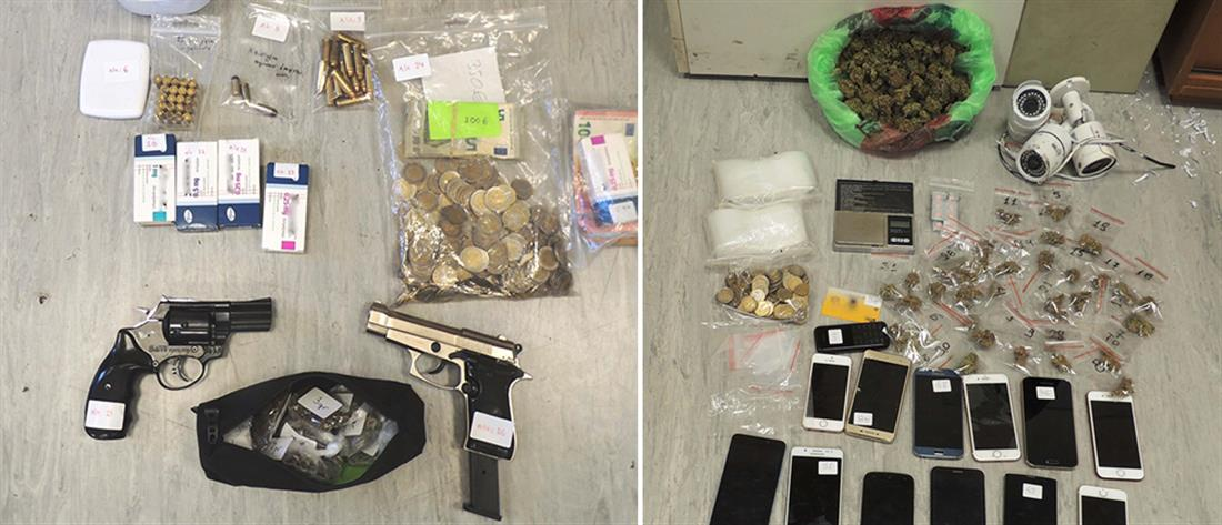 """Όπλα και ναρκωτικά βρέθηκαν σε """"σαφάρι"""" της Αστυνομίας (εικόνες)"""