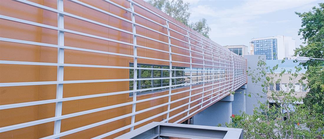 """Νοσοκομείο """"Σωτηρία"""": Εγκαινιάστηκε η νέα πεζογέφυρα (εικόνες)"""