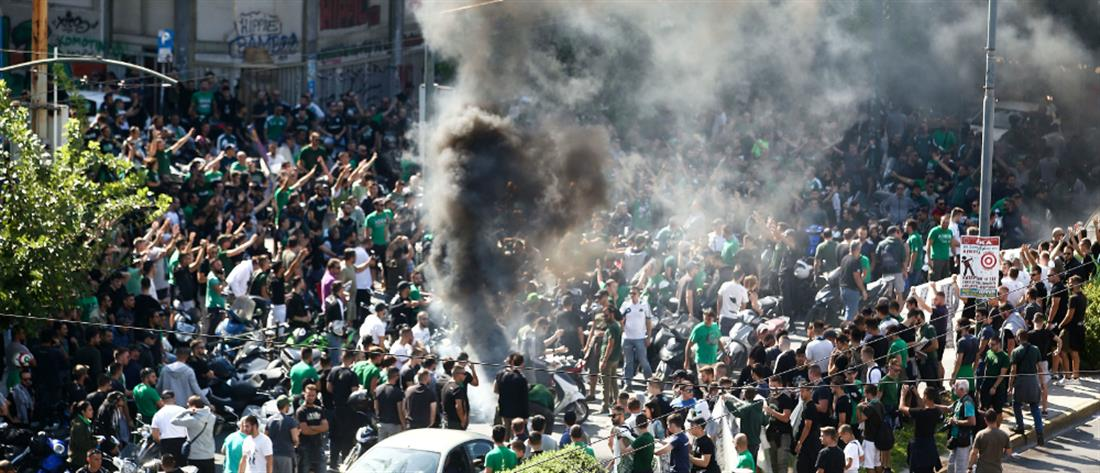 Παναθηναϊκός: συλλαλητήριο έξω από το γήπεδο της Λεωφόρου (εικόνες)