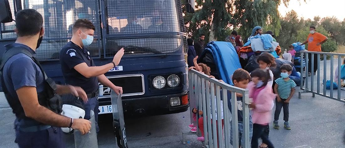 Λέσβος - επιχείρηση - αστυνομία - μετανάστες - νέα δομή