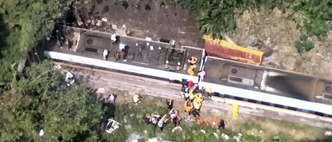 Τρένο εκτροχιάστηκε σε τούνελ (εικόνες)