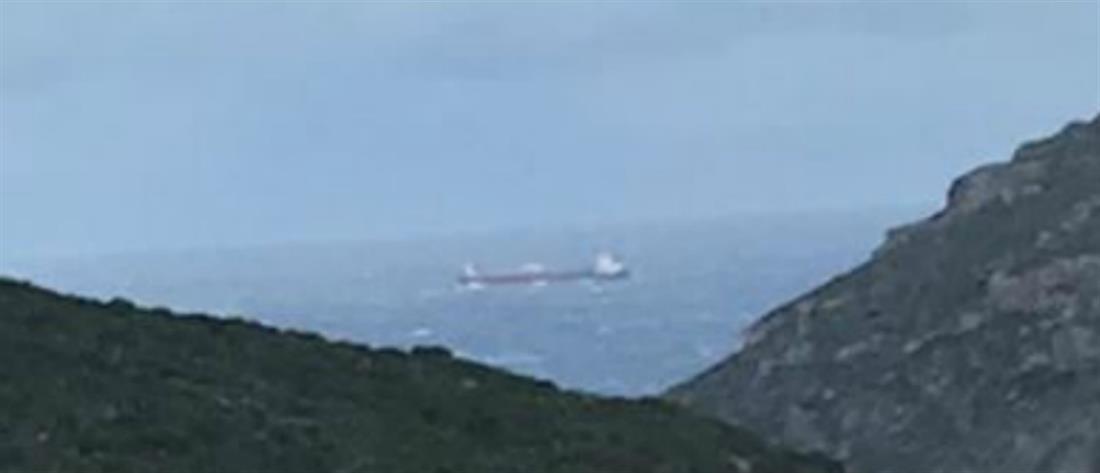 Ακυβέρνητο πλοίο στο Ακρωτήριο Μαλέας
