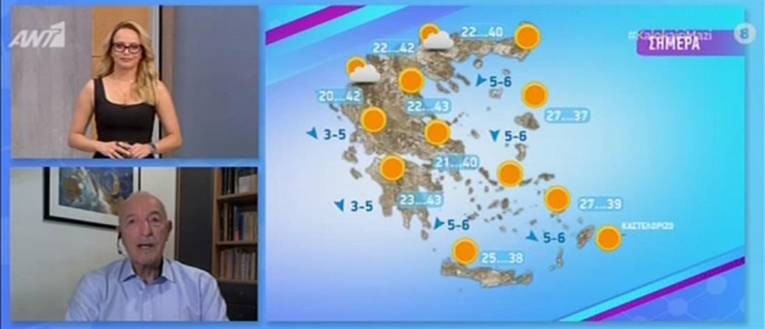 Καύσωνας - Αρνιακός: Πότε αναμένoνται οι υψηλότερες θερμοκρασίες (βίντεο)