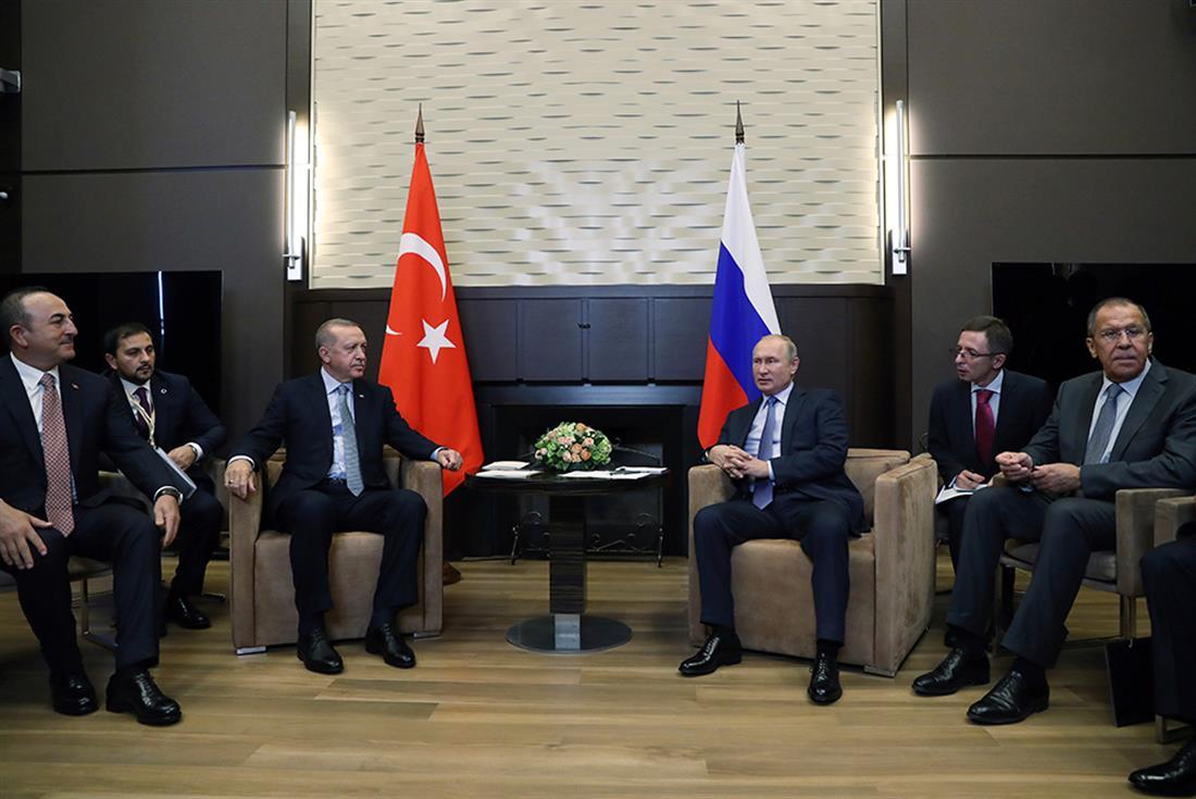 Πούτιν - Ερντογάν - συνέντευξη Τύπου