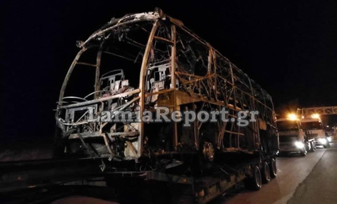 Φθιώτιδα - λεωφορείο - ΚΤΕΛ  - φωτιά