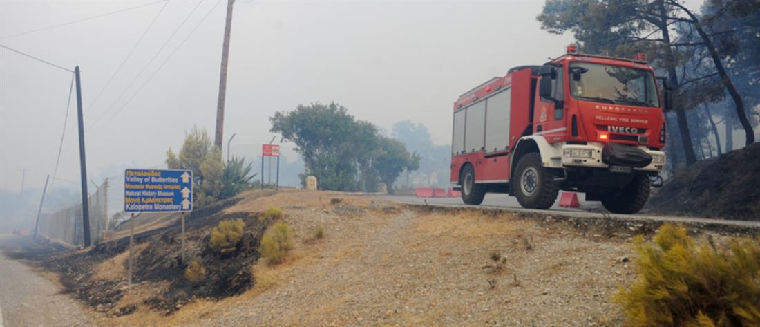 Φωτιά στη Ρόδο: Σε ύφεση τα μέτωπα