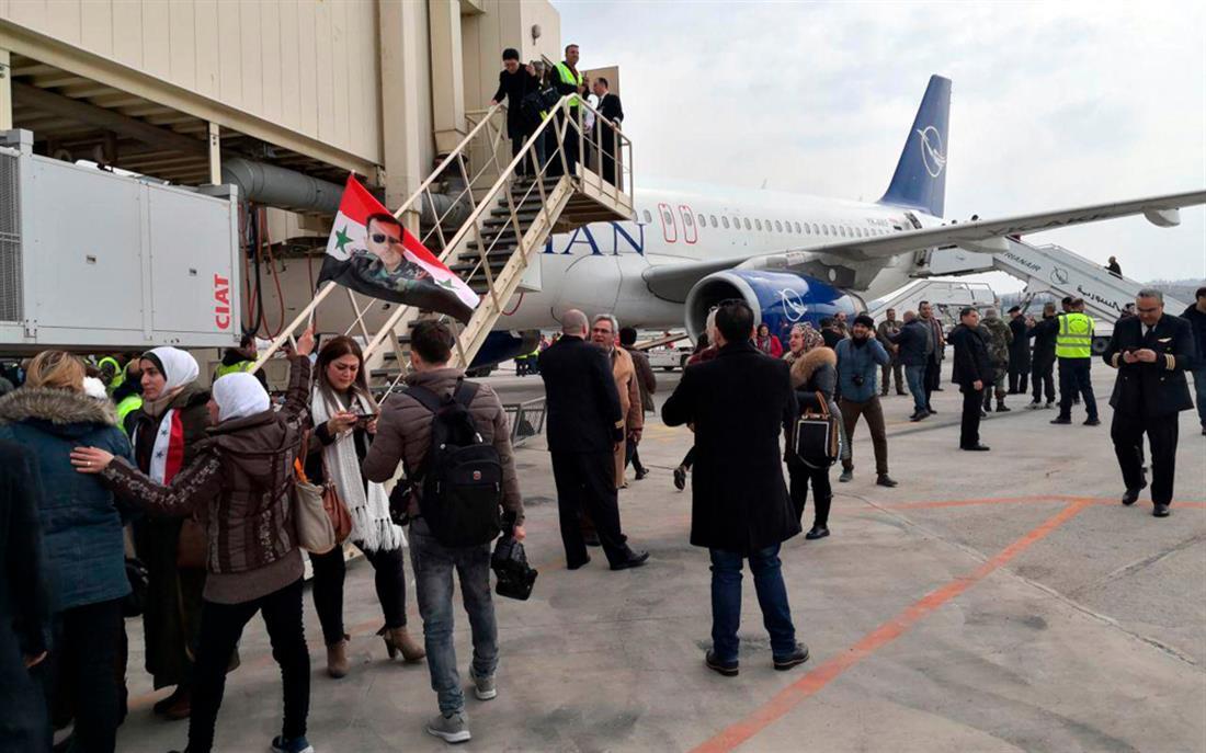 Συρία - Χαλέπι - αεροδρόμιο - πτήση