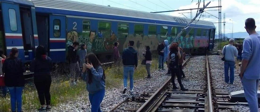 Εκτροχιάστηκαν βαγόνια τρένου κοντά στα Παλαιοφάρσαλα