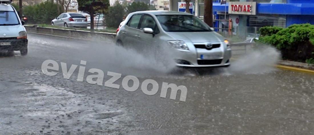 """""""Ποτάμια"""" οι δρόμοι της Χαλκίδας (βίντεο)"""