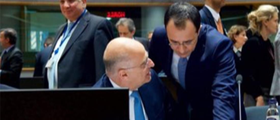 Δένδιας - Συμβούλιο Υπουργών Εξωτερικών ΕΕ