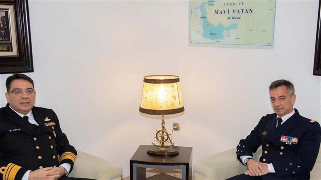 Γάλλος Ναύαρχος - φωτογραφία - τουρκικός χάρτης - Γαλάζια Πατρίδα