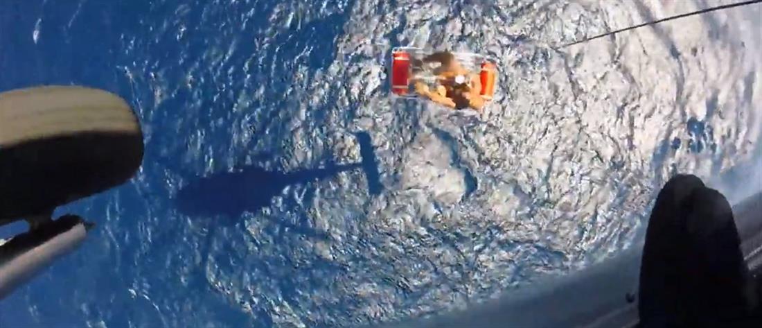 Δραματική διάσωση ναυαγού στη Σέριφο (βίντεο)