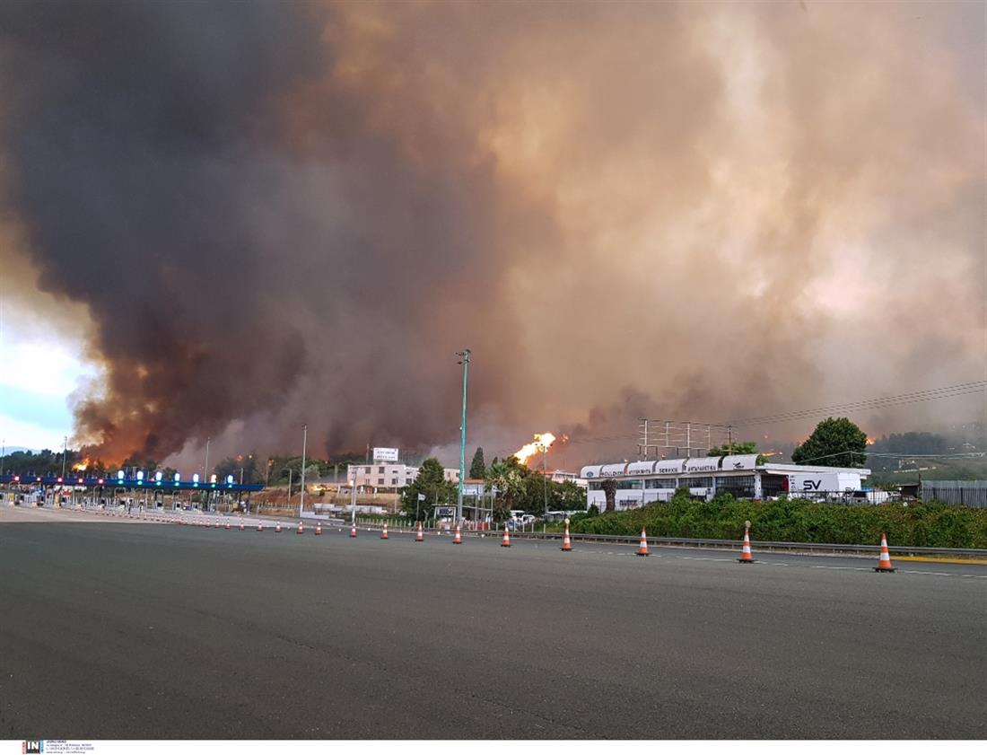 Φωτιά - Βαρυμπόμπη - Διόδια Αφιδνών