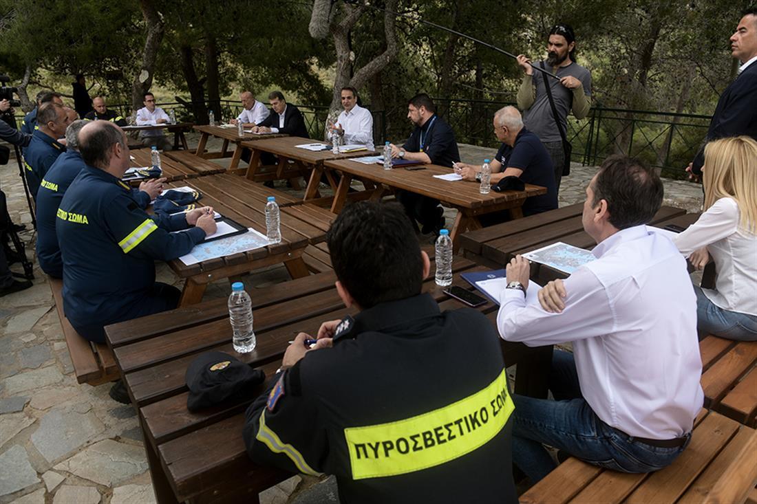 Μητσοτάκης - Χαρδαλιάς - Χρυσοχοϊδης - Ηλιούπολη - αντιπυρικη περίοδος