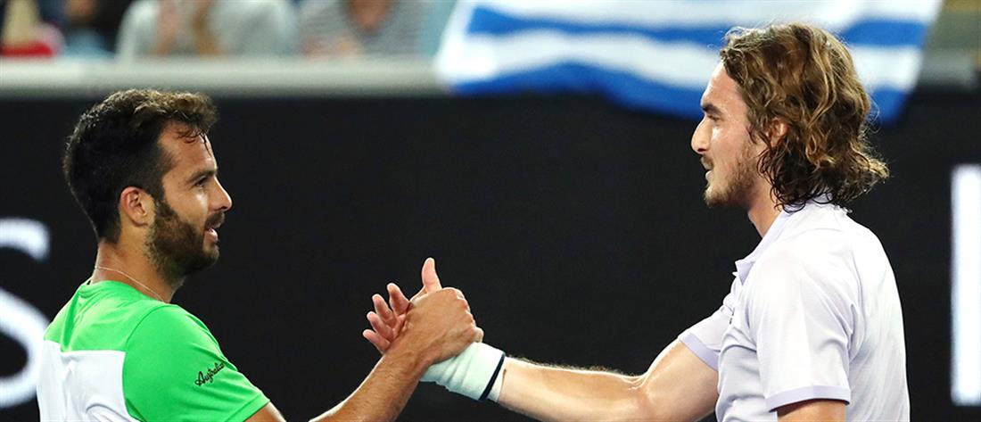 Australian Open: Πρόκριση με... προπόνηση για τον Τσιτσιπά