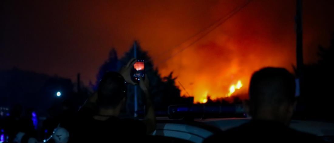 Εύβοια - Φωτιά - Πυρκαγιά - Νύχτα