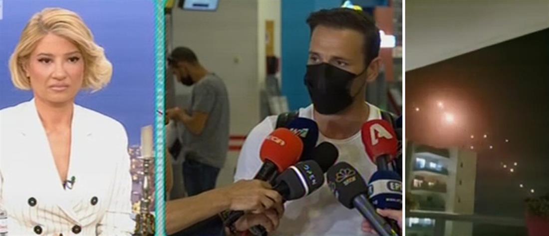 """""""Το Πρωινό"""" – Ο Βέρτης στο Ισραήλ: εικόνες από το κινητό του με βομβαρδισμούς (βίντεο)"""