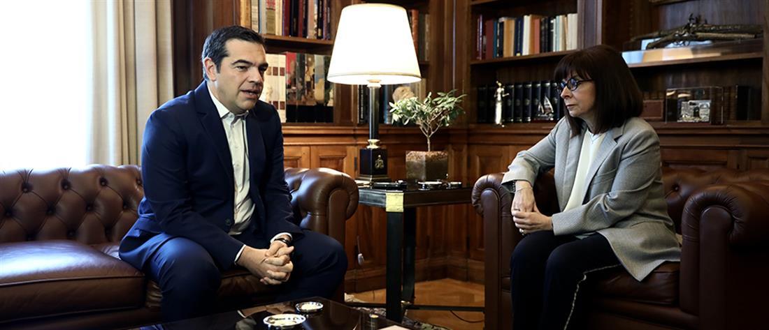 Σακελλαροπούλου - Τσίπρας: κοινός στόχος η προκοπή και ευημερία των Ελλήνων