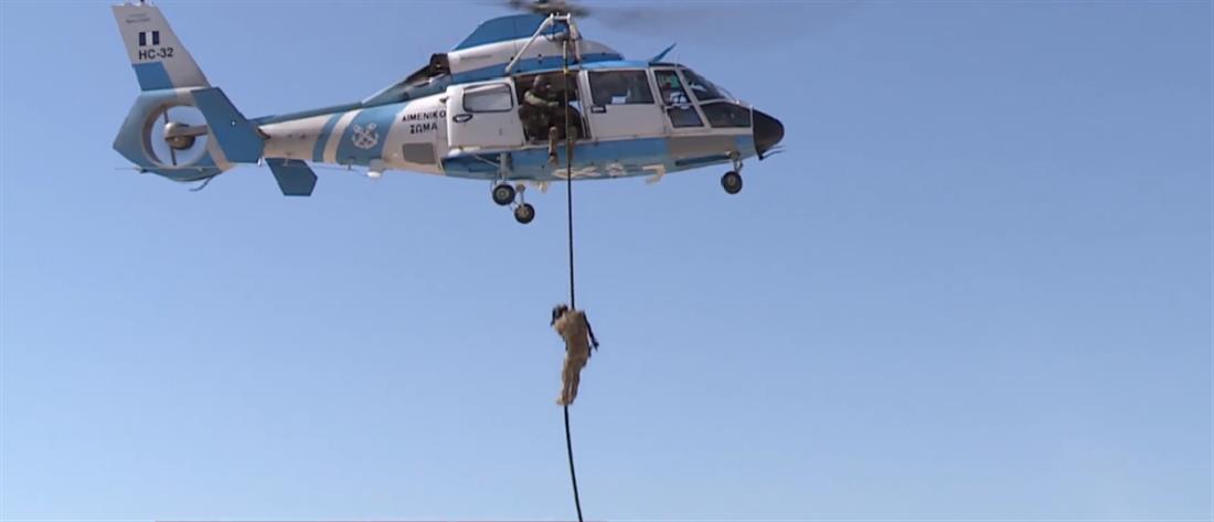 Αποκλειστικές εικόνες: Εντυπωσιακή συνεκπαίδευση της ελίτ των Ειδικών Δυνάμεων (βίντεο)