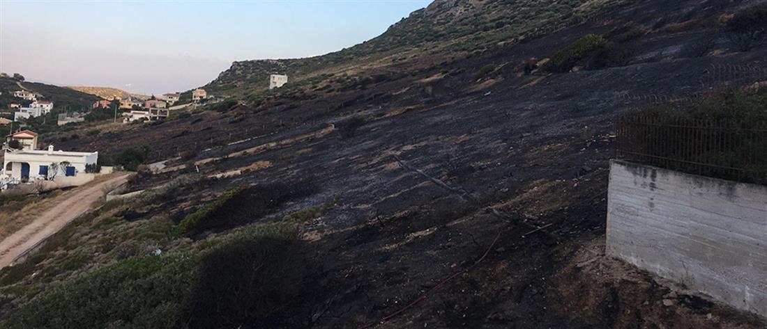 Πόρτο Ράφτη: στις αυλές των σπιτιών έφτασαν οι φλόγες (βίντεο)