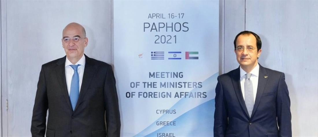 Κυπριακό: Συνάντηση Δένδια - Χριστοδουλίδη