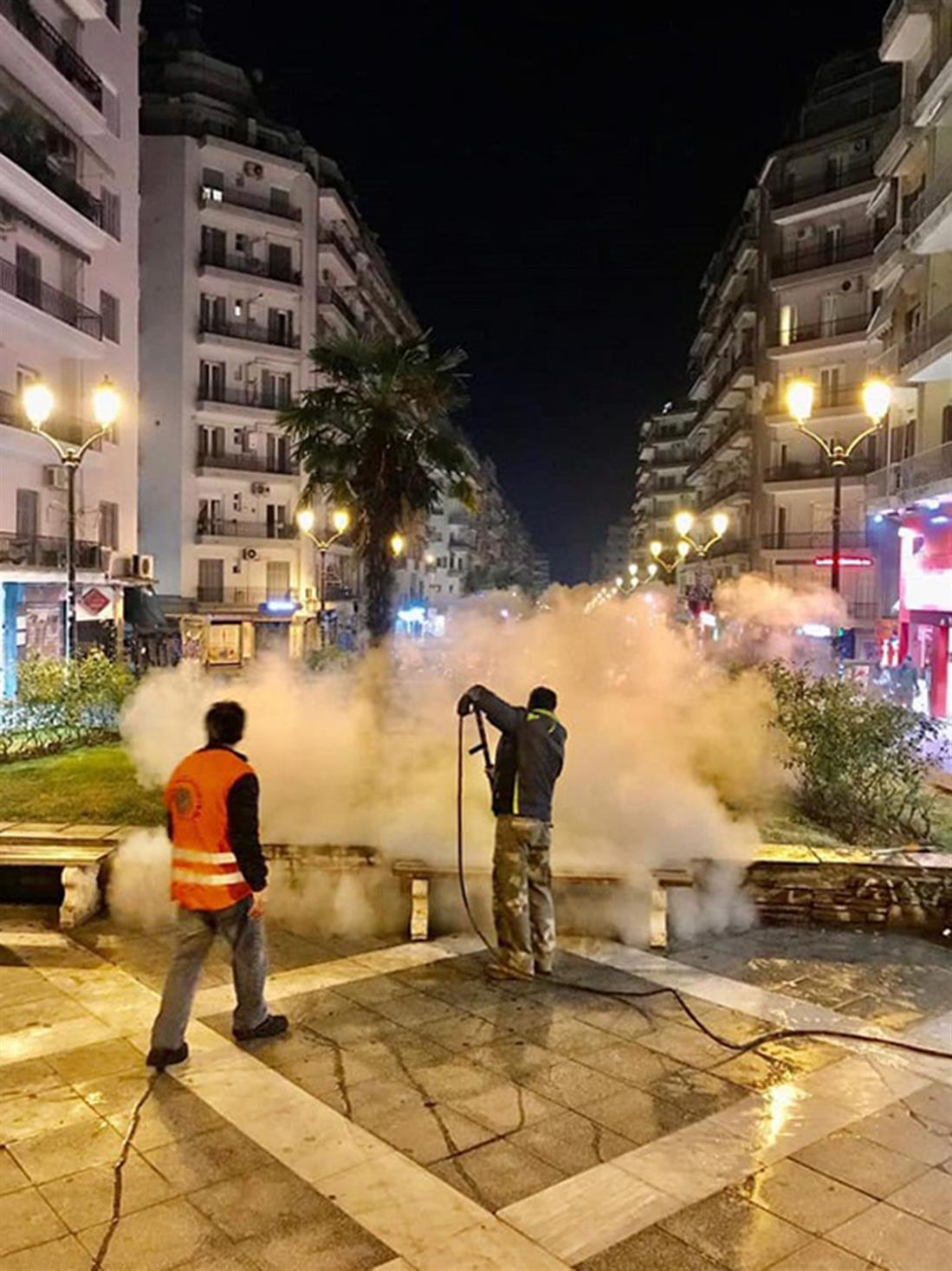 Θεσσαλονίκη - καθαρισμός δρόμων