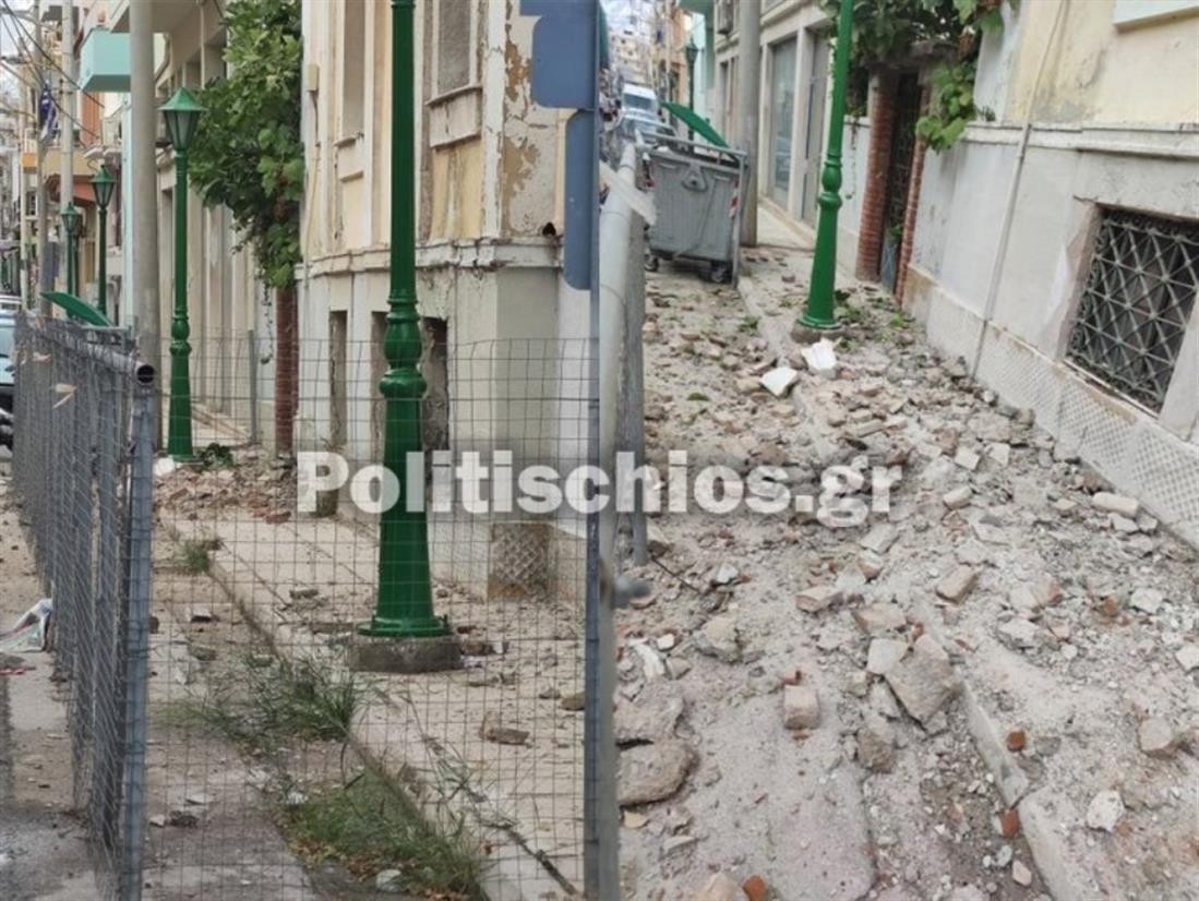 Χίος - σεισμός - καταστροφές