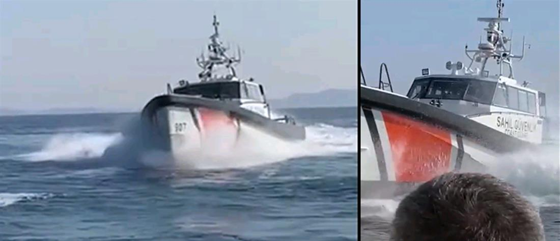 Παρενόχληση σκάφους του Λιμενικού από τουρκική ακταιωρό (εικόνες)
