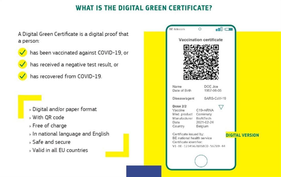 ψηφιακό πιστοποιητικό - covid - ΕΕ