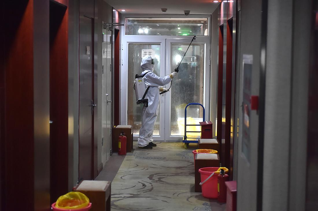 Κίνα - κατάρρευση ξενοδοχείου - κορονοϊός