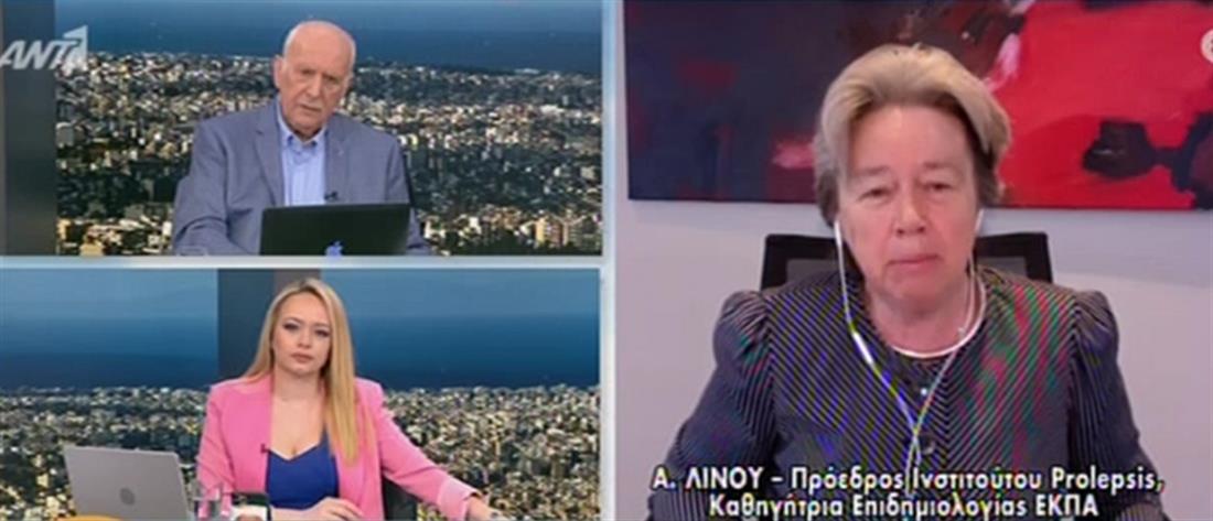 Λινού για κορονοϊό στον ΑΝΤ1: ο εγκλεισμός θα έπρεπε να ήταν το τελευταίο μέτρο κι όχι το πρώτο (βίντεο)