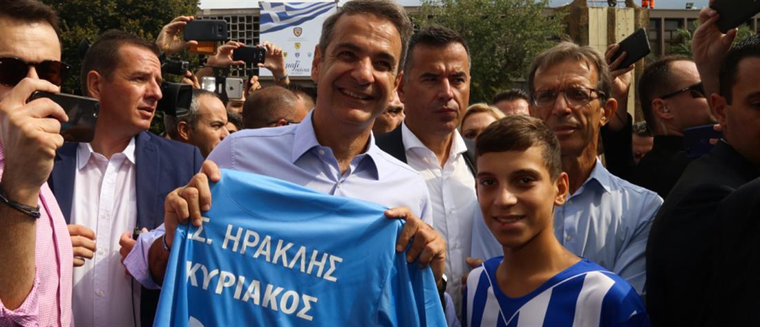 ΔΕΘ: στα περίπτερα Ηρακλή, Άρη και ΠΑΟΚ ο πρωθυπουργός