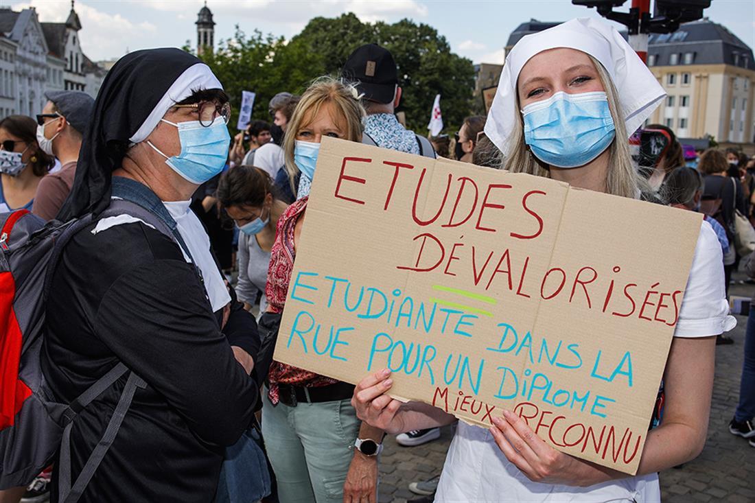 AP - Βέλγιο - διαδηλώσεις