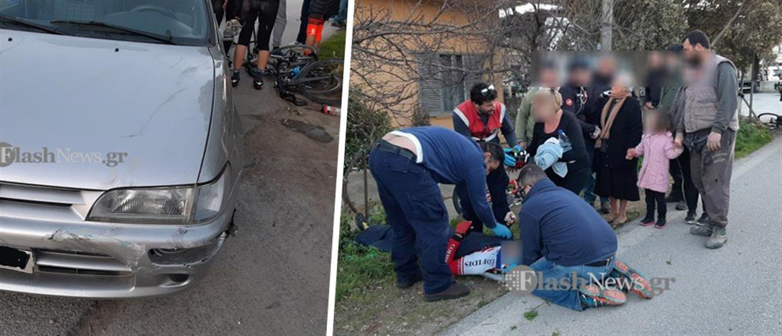 Αυτοκίνητο παρέσυρε ποδηλάτες (εικόνες)
