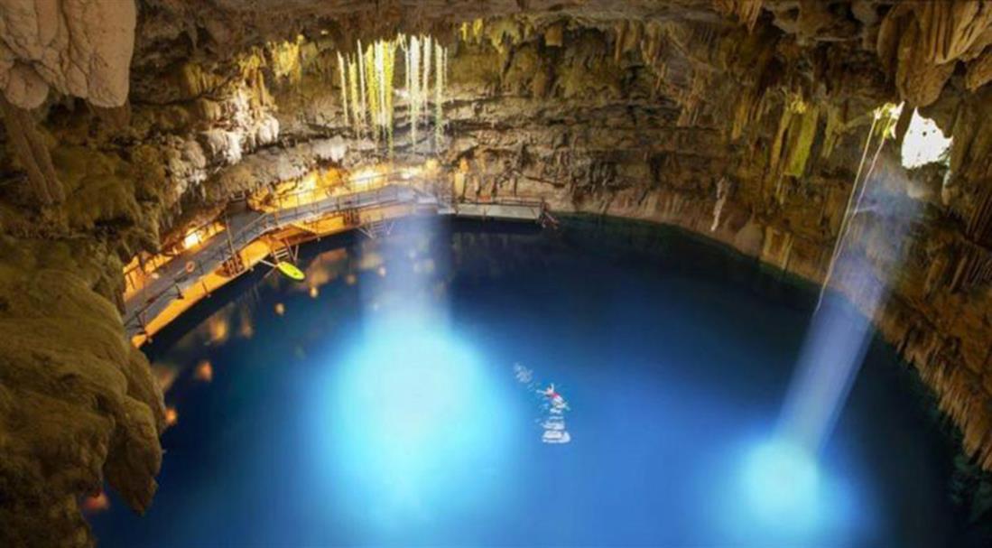 σπήλαιο - γεύμα - Μεξικό - Grand Velas Riviera Maya  - Chukum Cenote