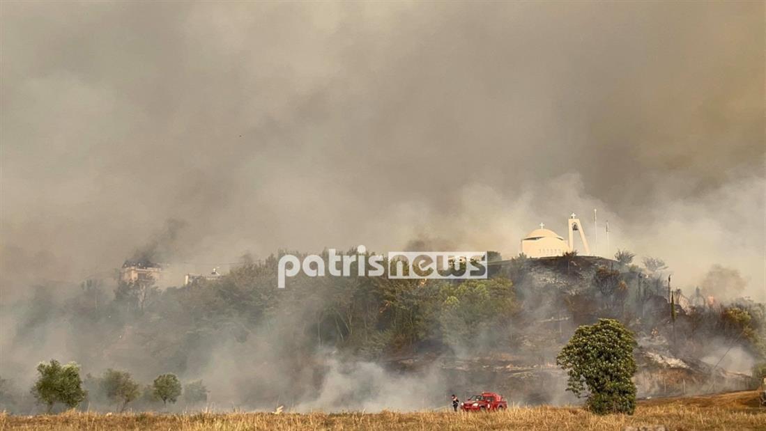 Φωτιά - Ηλεία - Πελόπιο - Αρχαία Ολυμπία