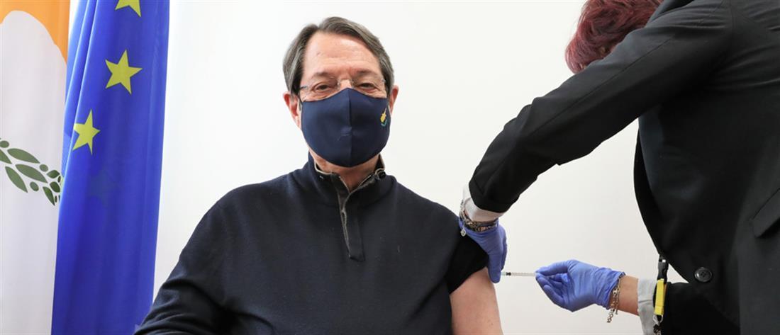 """Εμβολιάστηκε ο Νίκος Αναστασιάδης: """"Δώρο ζωής κατά του κορονοϊού"""""""